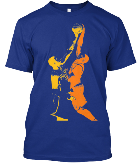Roy Hibbert blocks Carmelo Anthony shirt