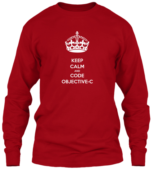 Keep Calm and Code Objective-C Tees
