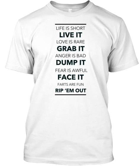 Life quotes Tees B&W