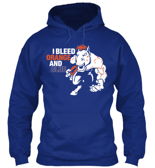 Limited Edition I Bleed Orange and Blue